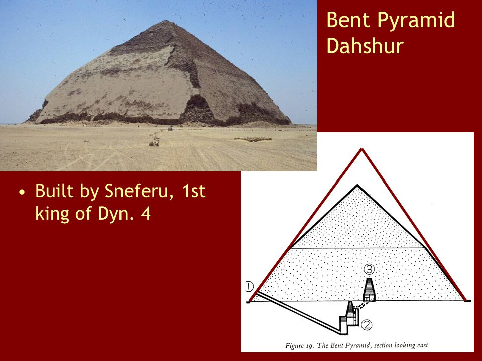 Bent Pyramid Dahshur Built by Sneferu, 1st king of Dyn. 4