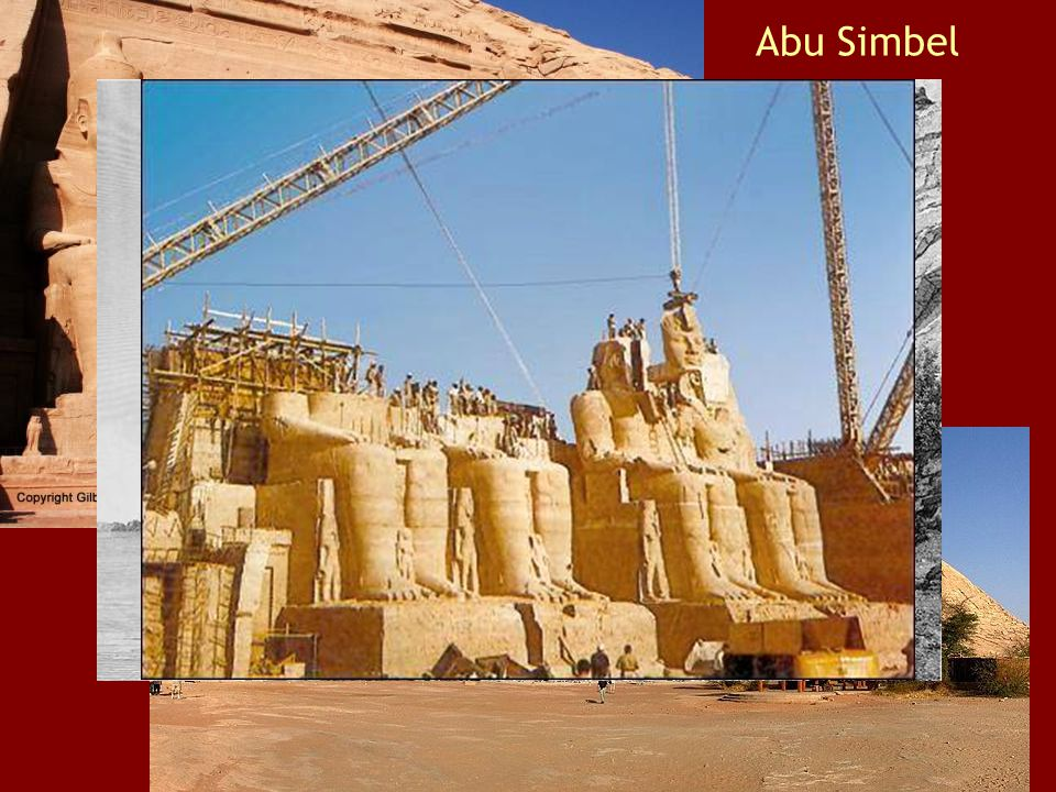 Abu Simbel Four 22- meter high statues of Rameses II, Temple of Rameses II Temple of Nefertari (foreground)