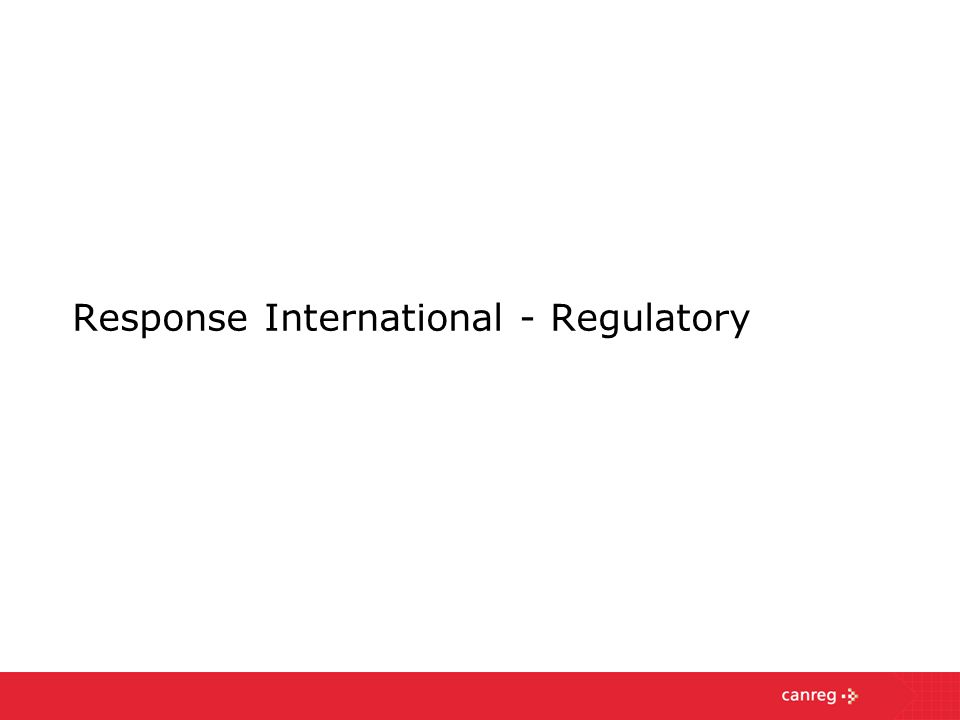 Response International - Regulatory