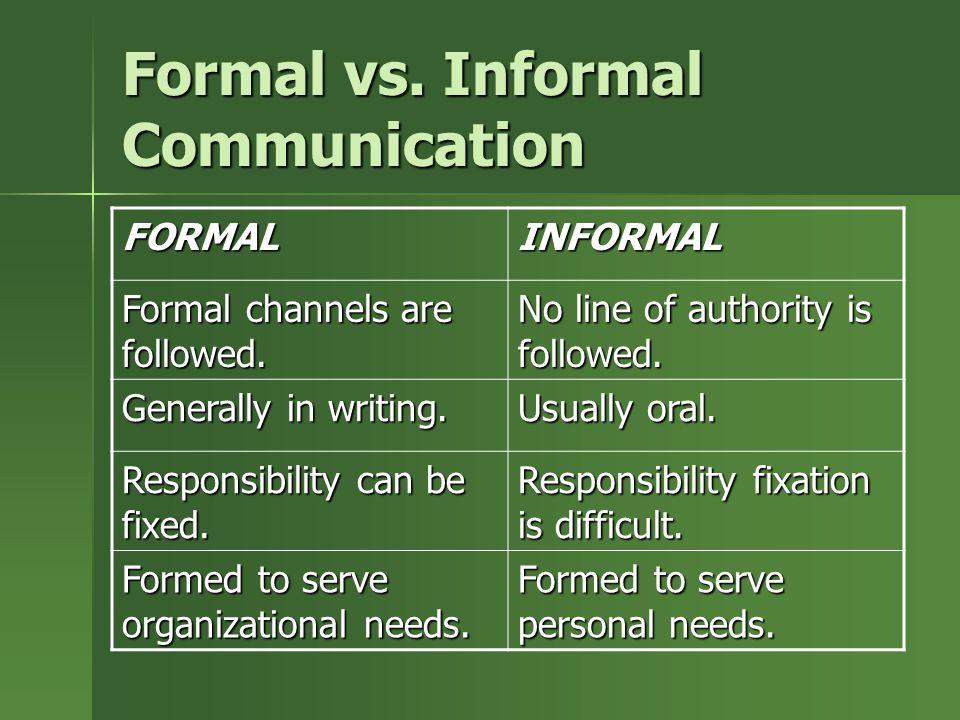 informal communication The informal communication network - download as word doc (doc), pdf file (pdf), text file (txt) or read online.