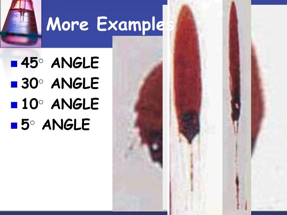 45 ○ ANGLE 30 ○ ANGLE 10 ○ ANGLE 5 ○ ANGLE More Examples