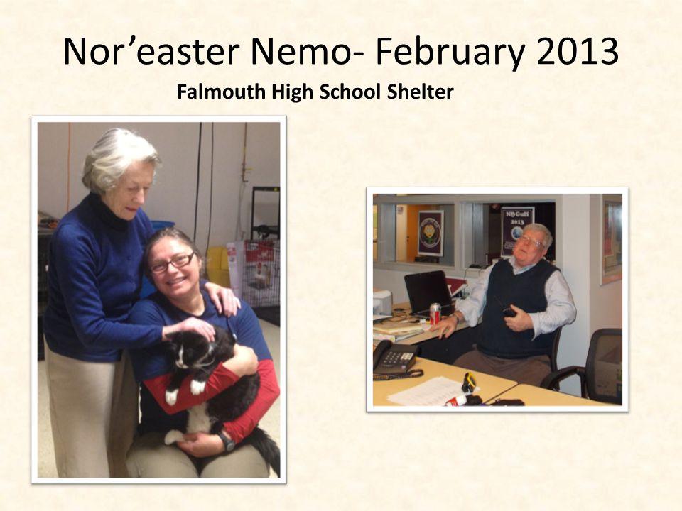 Nor'easter Nemo- February 2013 Falmouth High School Shelter