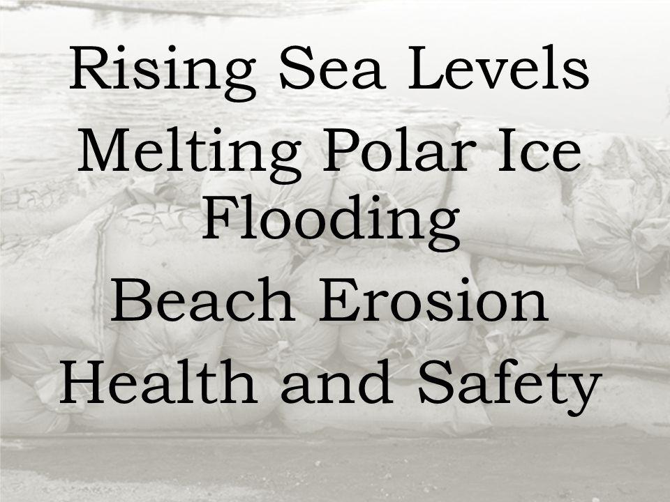 Rising Sea Levels Melting Polar Ice Flooding Beach Erosion Health and Safety