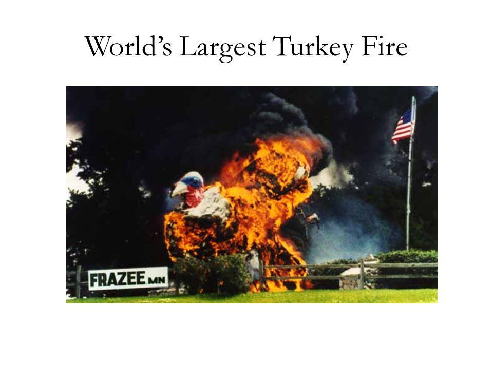 World's Largest Turkey Fire