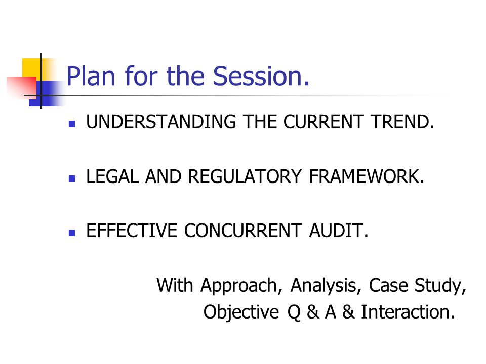 Certificate Course on Concurrent Audit.