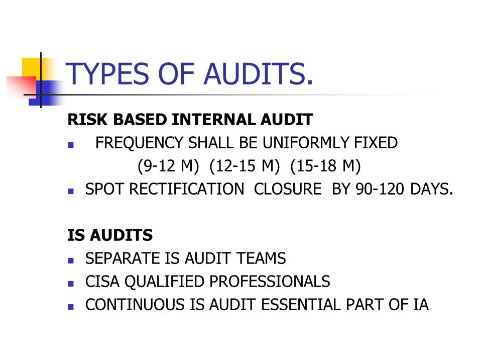 CONCURRENT AUDIT RBI PANEL AS PER GRADATION SUBSTANTIVE CHECKING OF HIGH RISK AREAS - CREDIT RISK, STATUTORY COMPLIANCE RISK - FRAUD RISK, REVENUE RISK INTERACTION WITH INTERNAL AUDIT DEPARTMENT (QUARTERLY) FEEDBACK TO CA, REVIEW ON ANNUAL BASIS STATUTORY AUDITORS FUNCTION TO BE TRANSFERRED NPA PROVISIONING, INSURANCE COVERAGE, P&L ACCOUNT ALM, CRAR, DICGC, LFAR & TAX AUDIT.