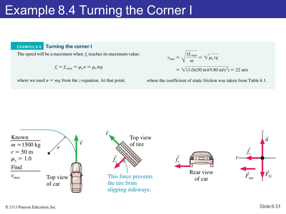 © 2013 Pearson Education, Inc. Example 8.4 Turning the Corner I Slide 8-51