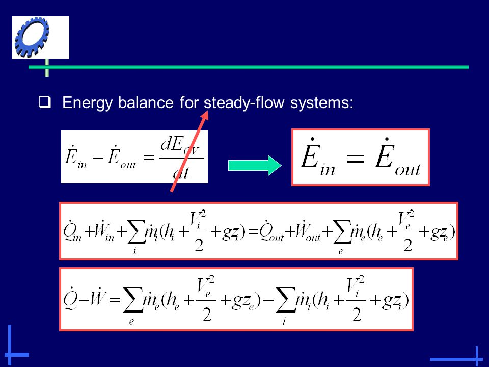  Energy balance for steady-flow systems: