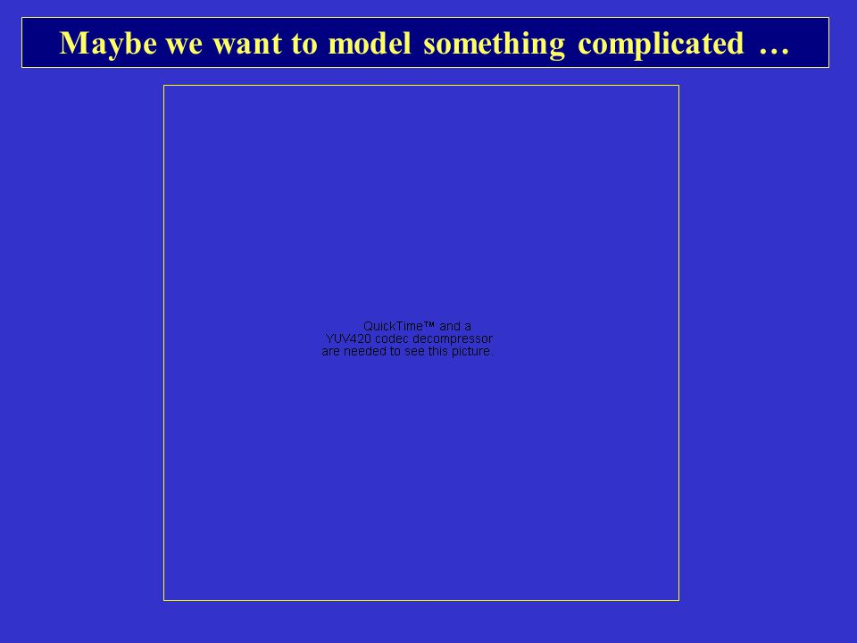 Maybe we want to model something complicated …