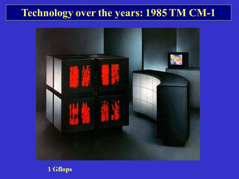 Technology over the years: 1985 TM CM-1 1 Gflops