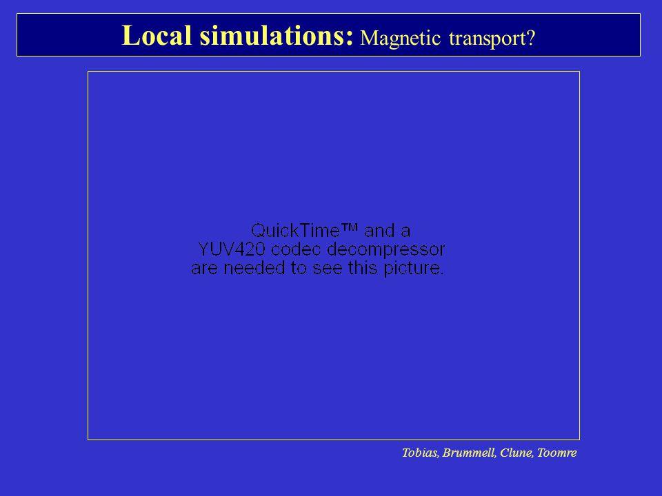 Local simulations: Magnetic transport Tobias, Brummell, Clune, Toomre