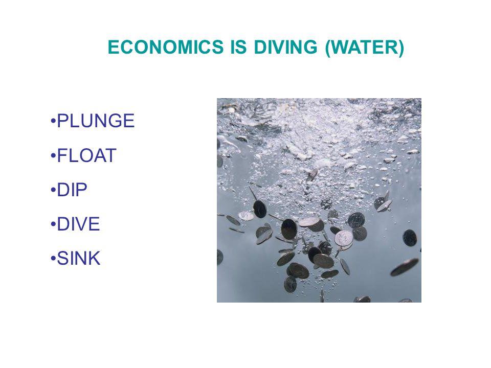 ECONOMICS IS DIVING (WATER) PLUNGE FLOAT DIP DIVE SINK