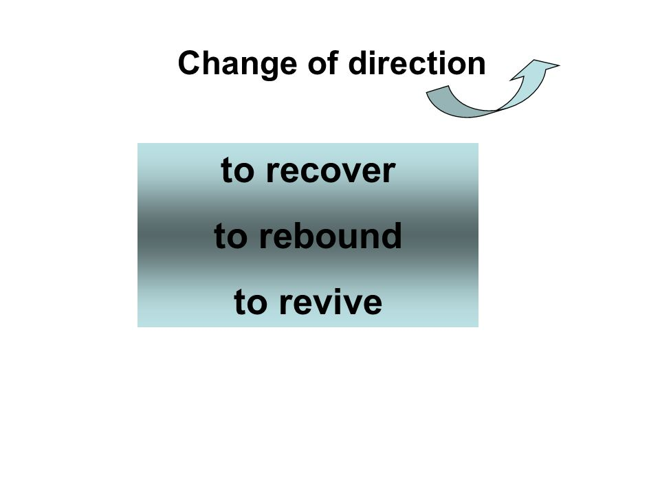 Change of direction to recover to rebound to revive
