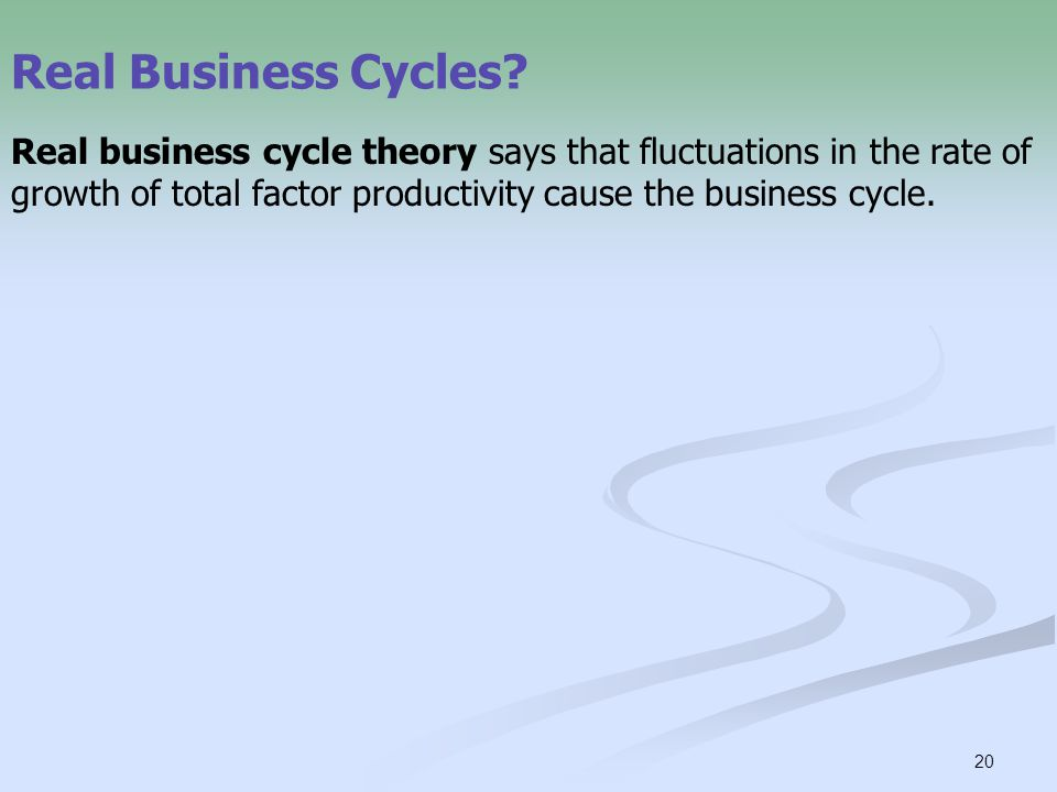 20 Real Business Cycles.