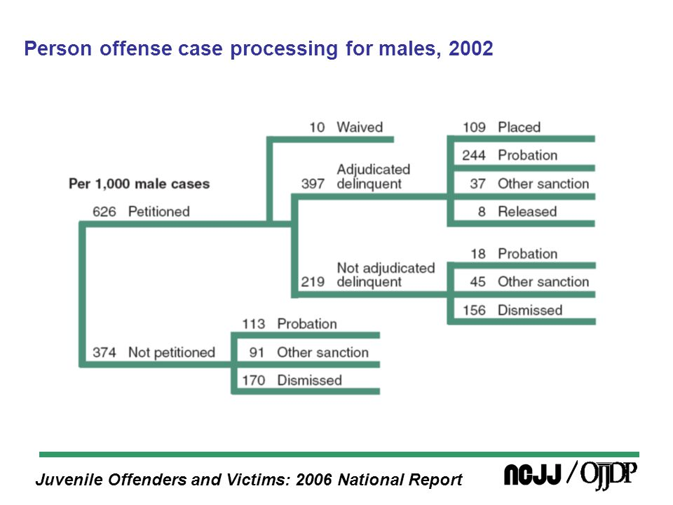 Juvenile Offenders and Victims: 2006 National Report Person offense case processing for males, 2002