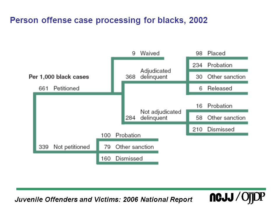 Juvenile Offenders and Victims: 2006 National Report Person offense case processing for blacks, 2002
