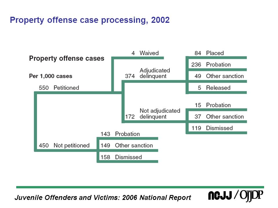 Juvenile Offenders and Victims: 2006 National Report Property offense case processing, 2002