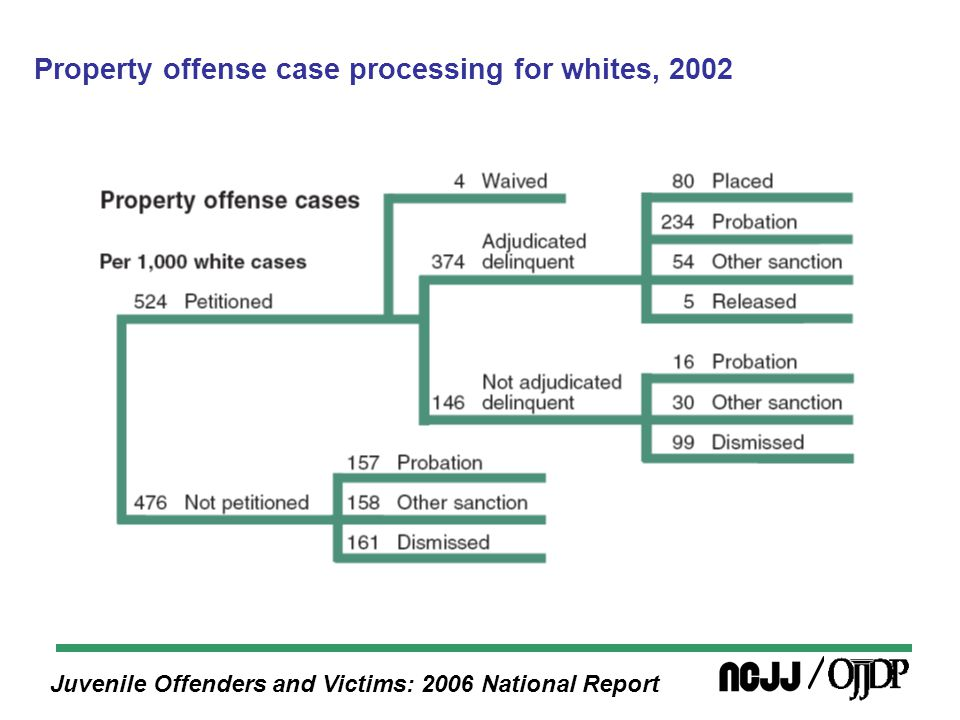 Juvenile Offenders and Victims: 2006 National Report Property offense case processing for whites, 2002