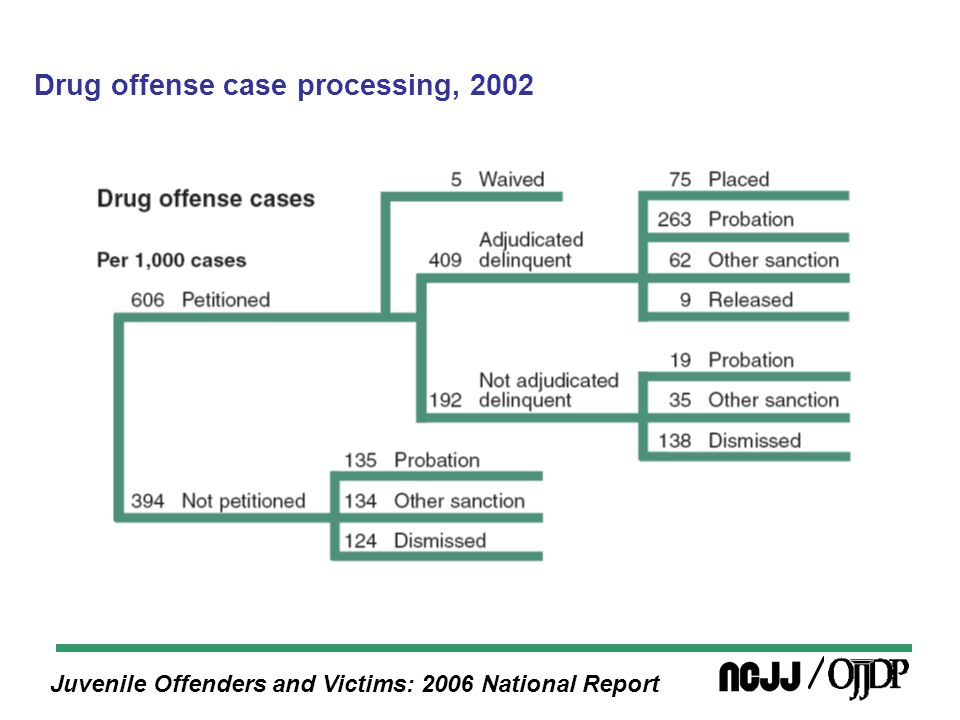 Juvenile Offenders and Victims: 2006 National Report Drug offense case processing, 2002