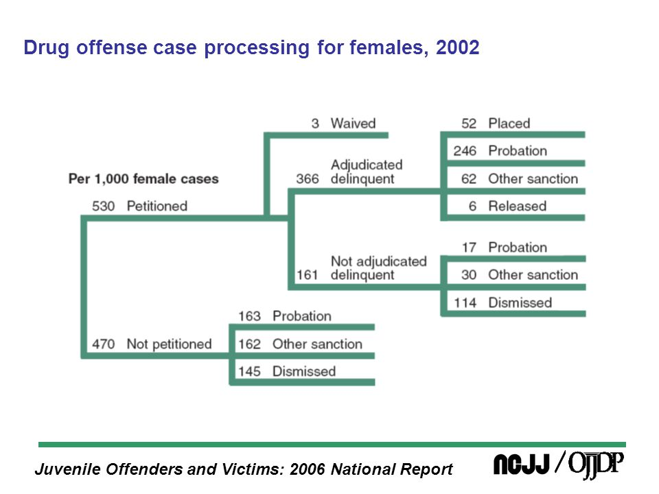 Juvenile Offenders and Victims: 2006 National Report Drug offense case processing for females, 2002