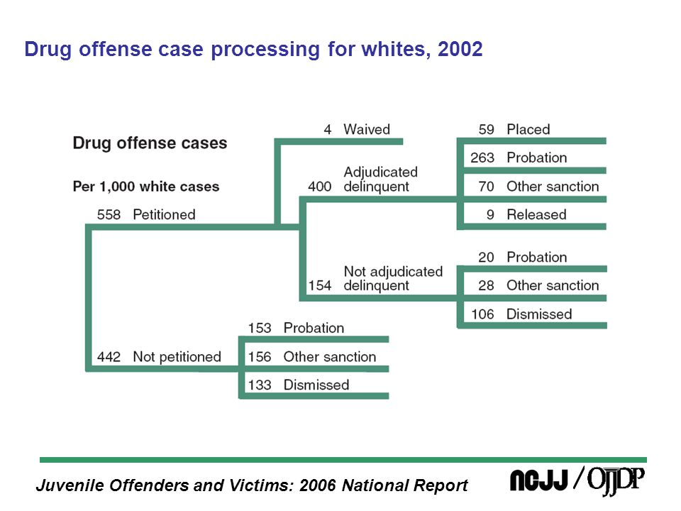 Juvenile Offenders and Victims: 2006 National Report Drug offense case processing for whites, 2002