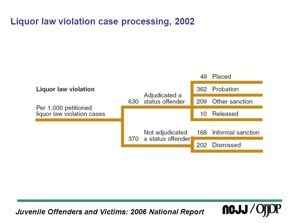 Juvenile Offenders and Victims: 2006 National Report Liquor law violation case processing, 2002