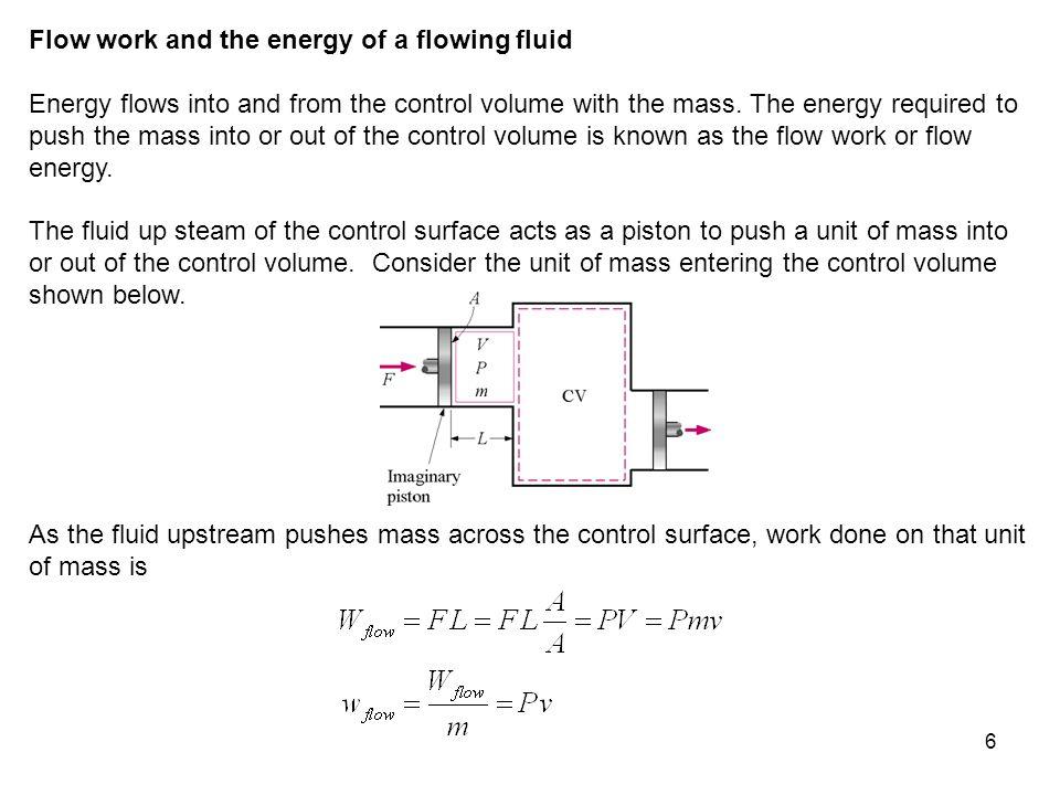 17 Control Volume: The turbine.