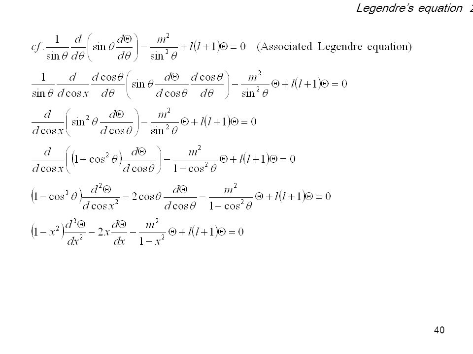 40 Legendre's equation 2