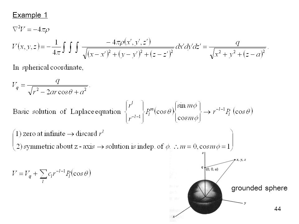 44 Example 1 grounded sphere