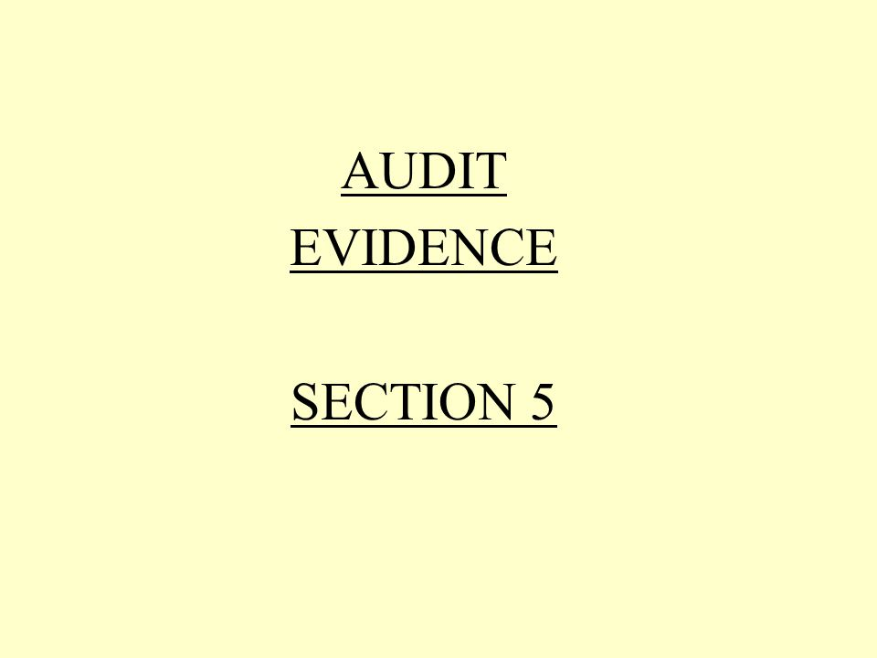 Audit Evidence Relates to the third examination standard Sufficient appropriate audit evidence should be obtained by such means as: To afford a reasonable basis to support the.