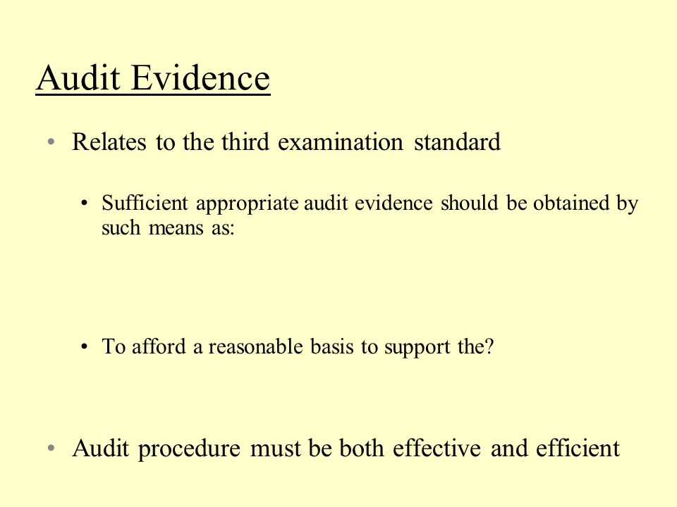 Problem 1: The following are examples of audit procedures: 1.