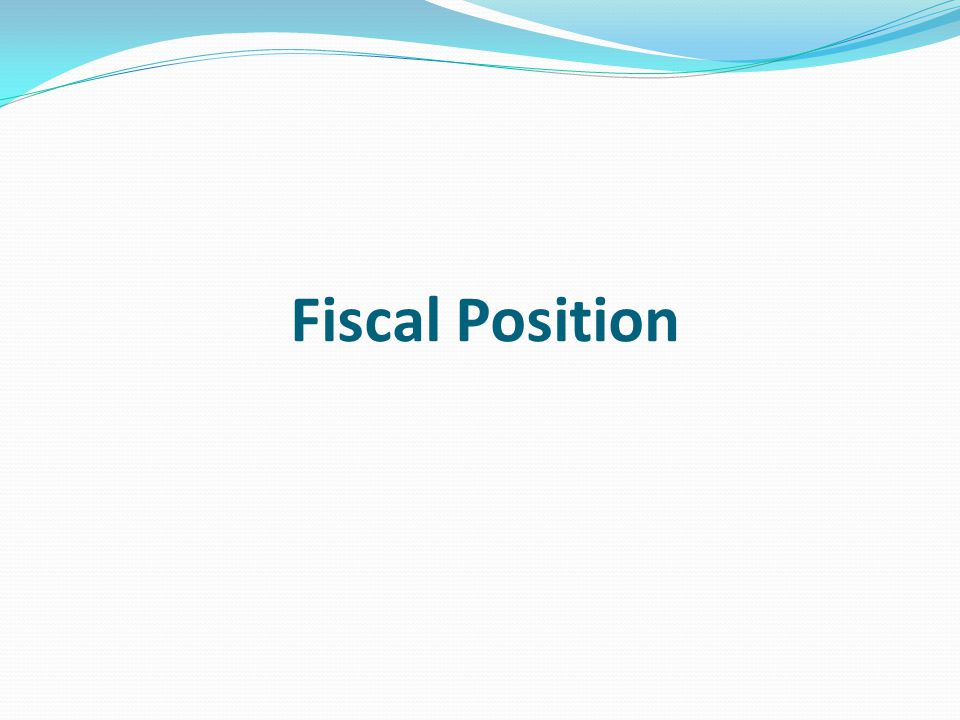 Fiscal Position