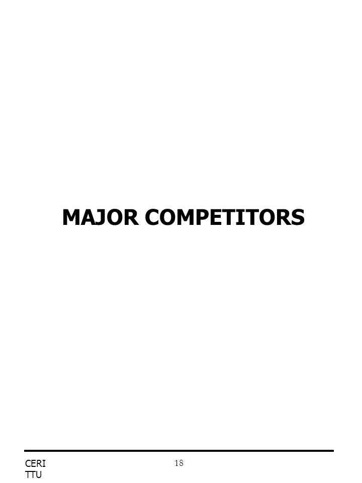 CERI TTU 18 MAJOR COMPETITORS