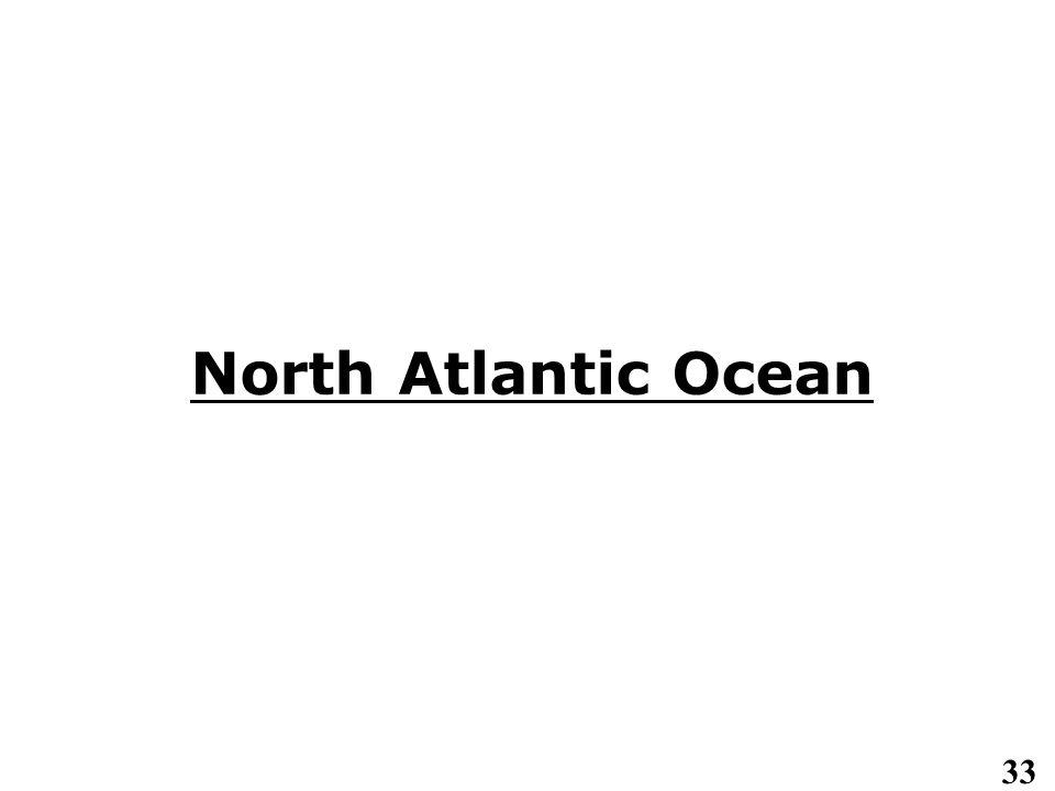 33 North Atlantic Ocean