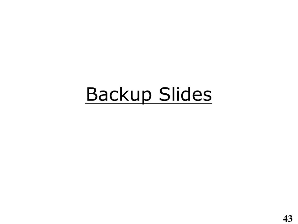 43 Backup Slides