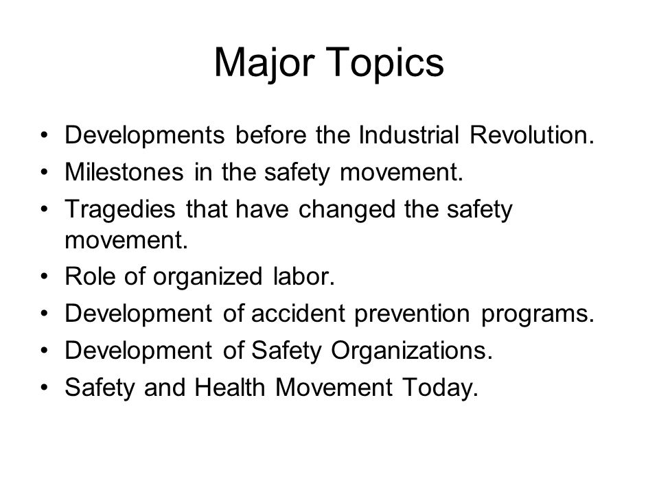 Safety Versus Health Safety is concerned with injury causing situations.