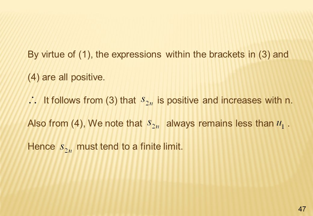 By virtue of (1), the expressions within the brackets in (3) and (4) are all positive.