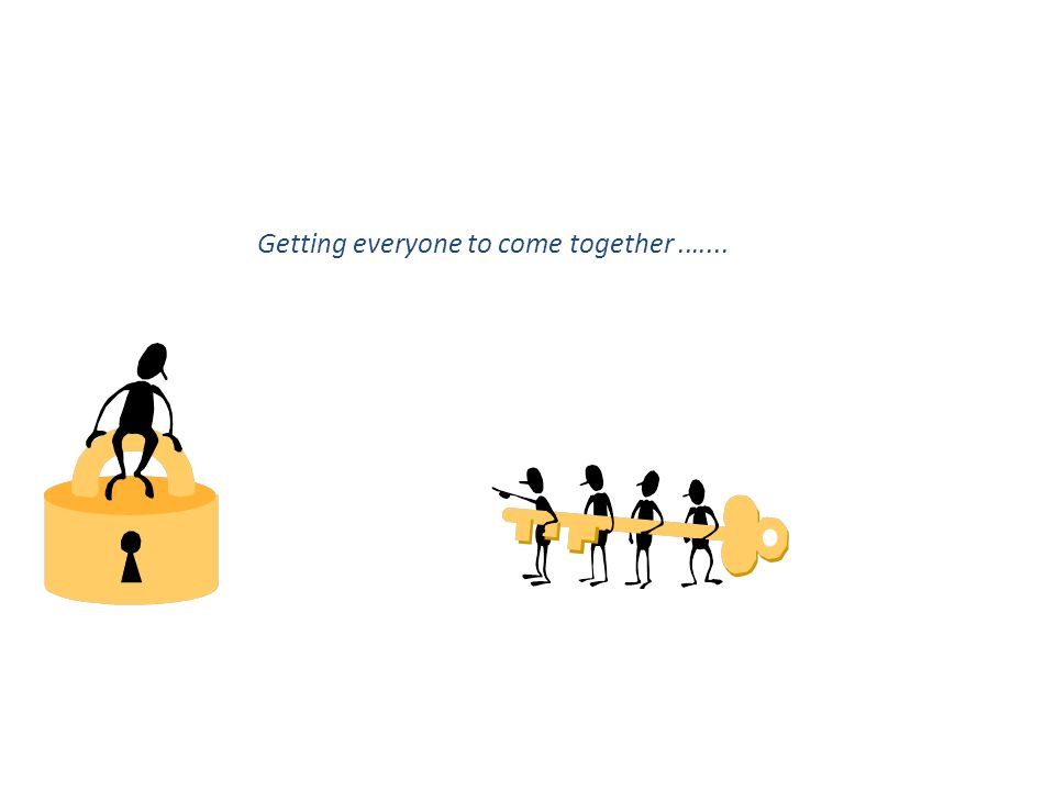 Getting everyone to come together.…...