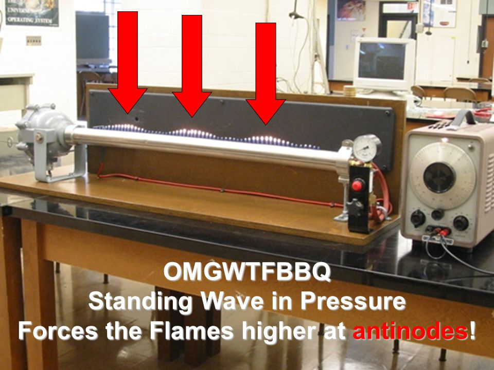 OMGWTFBBQ Standing Wave in Pressure Forces the Flames higher at antinodes!
