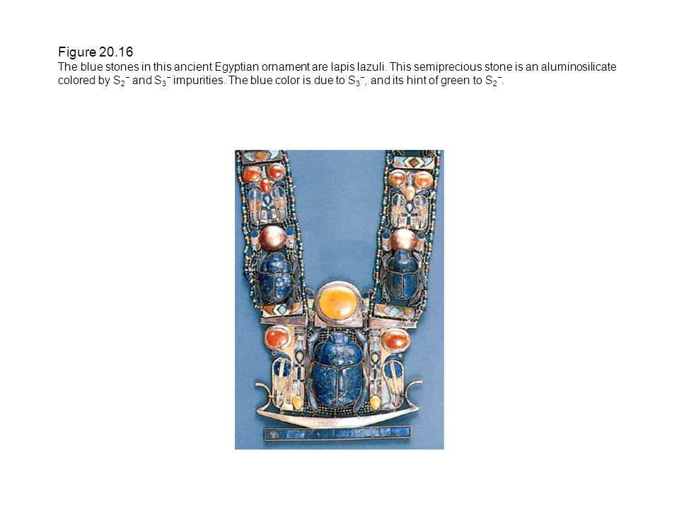 Figure 20.16 The blue stones in this ancient Egyptian ornament are lapis lazuli.