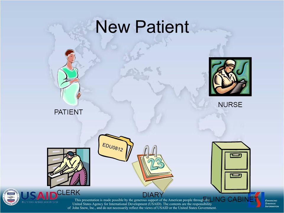 New Patient NURSE CLERK PATIENT FILING CABINET EDU0812 DIARY