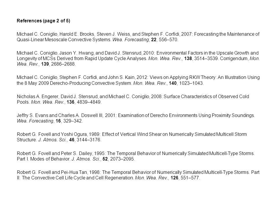 References (page 2 of 5) Michael C. Coniglio, Harold E.