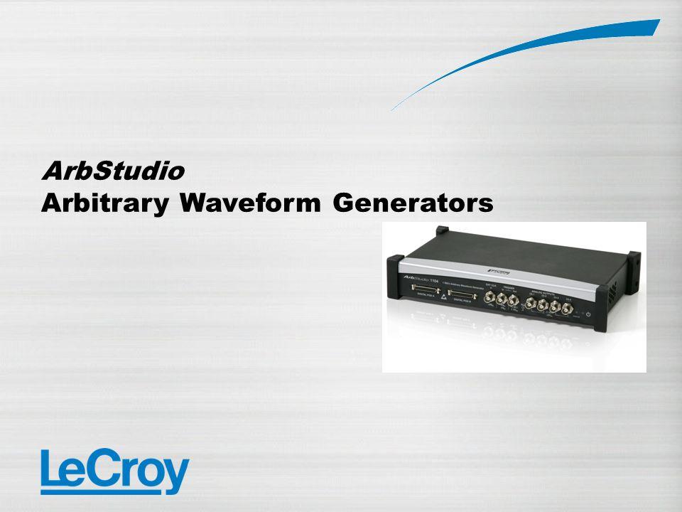 ArbStudio Arbitrary Waveform Generators