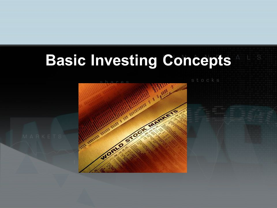 Basic Investing Concepts