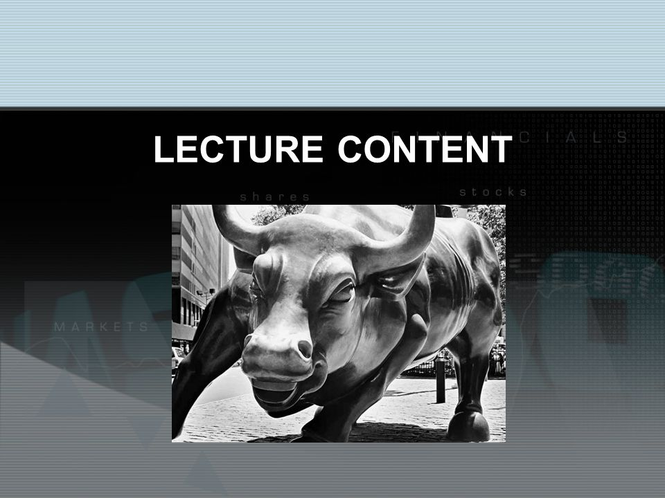 LECTURE CONTENT