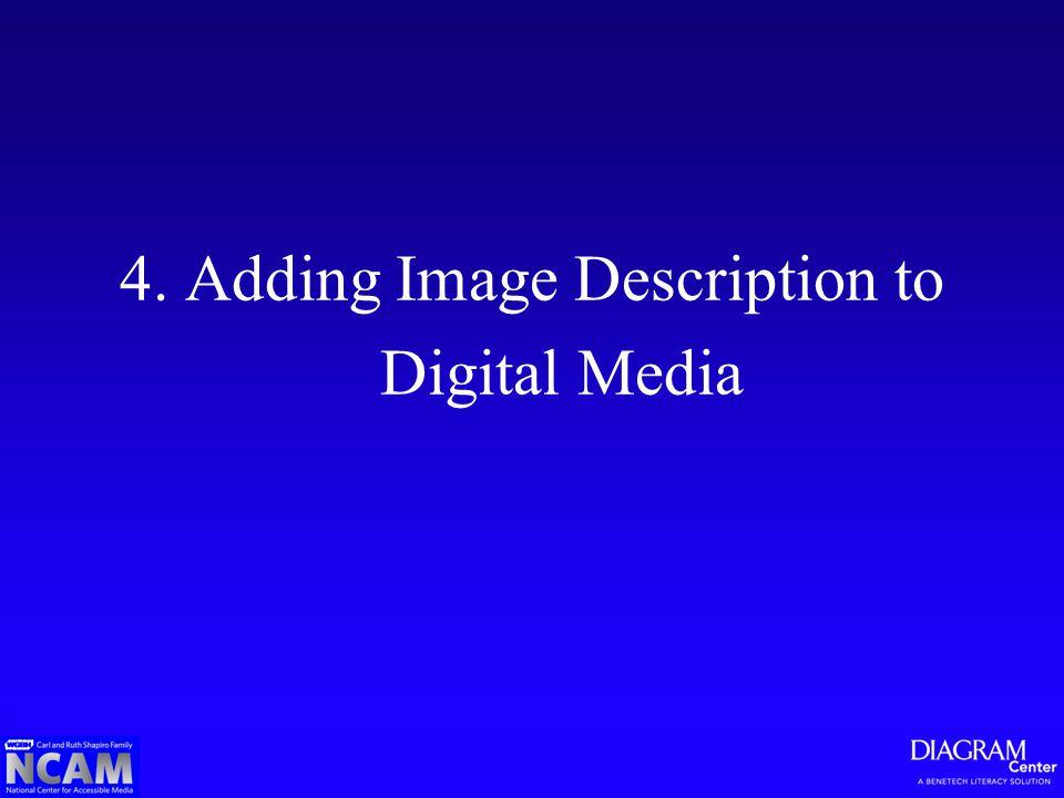 4. Adding Image Description to Digital Media