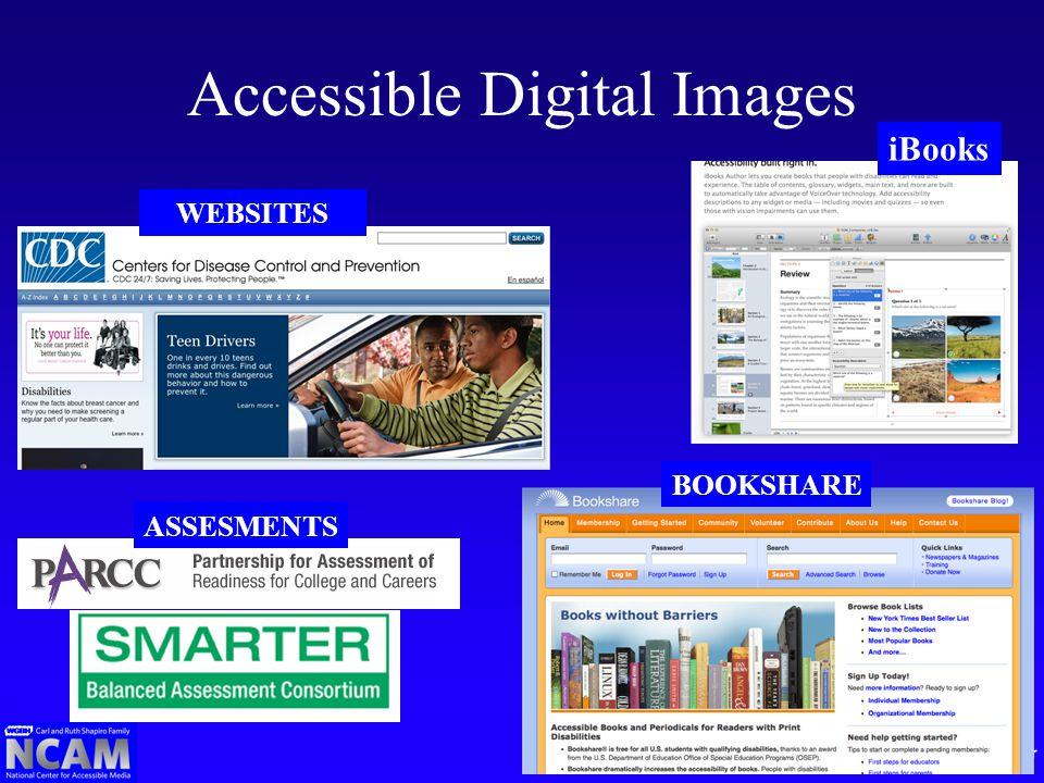 Accessible Digital Images ASSESMENTS WEBSITES iBooks BOOKSHARE
