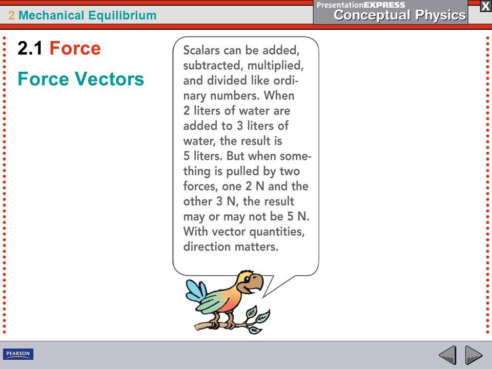 2 Mechanical Equilibrium Force Vectors 2.1 Force