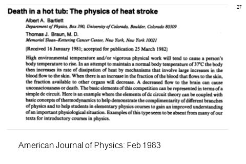 27 American Journal of Physics: Feb 1983