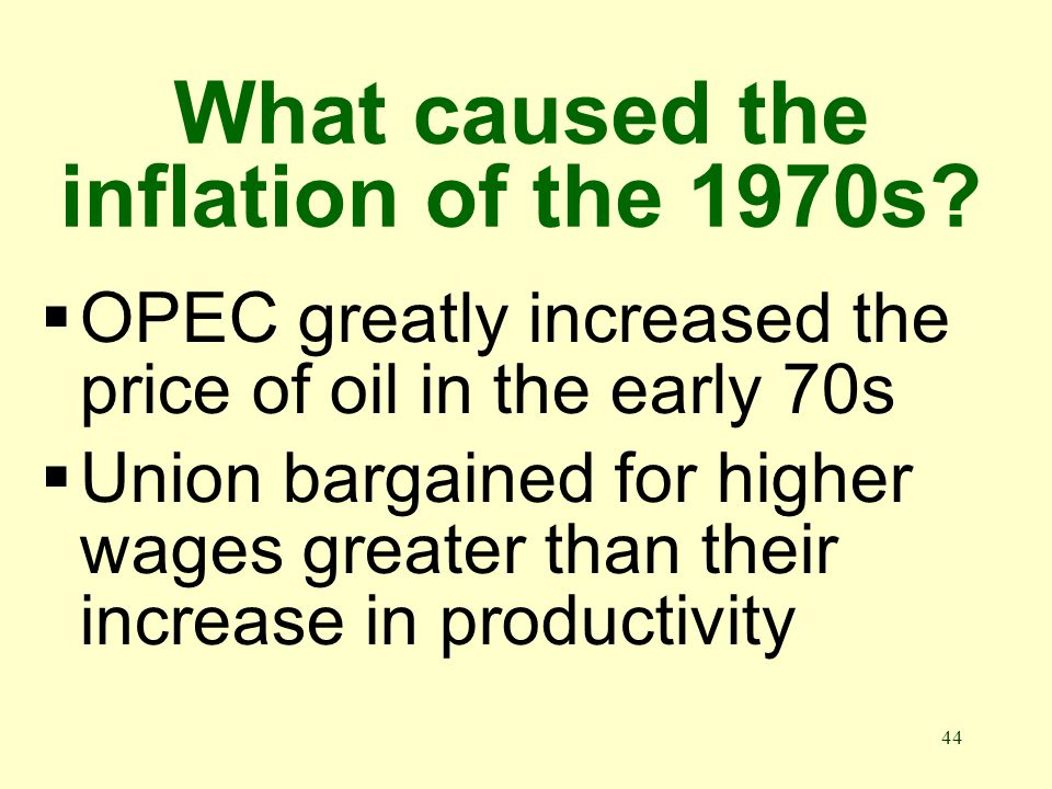 43 How bad was the inflation rate of the 1970s Inflation average 10% a year during the 1970s